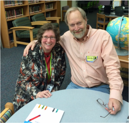 Sharon Freeze with Michael Hall author of Red: A Crayon's Story - Hilburn Academy Library - February 2015