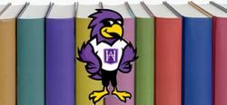 Hilburn Hawk with books